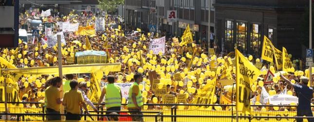 Protest gegen die Schließung der Uni in Kiel. Juli 2010.