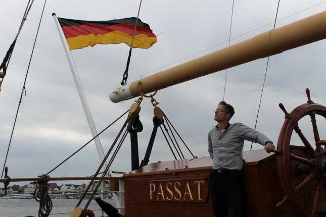 Patrick Schacht beim Rhetorik-Seminar auf der Passat in Travemünde.