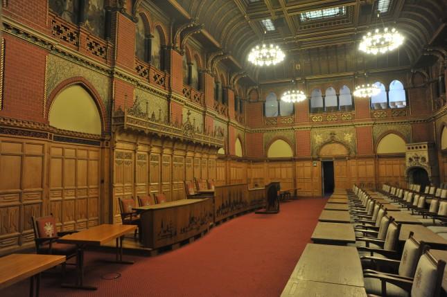 Hier finden die Bürgerschaftssitzungen statt.