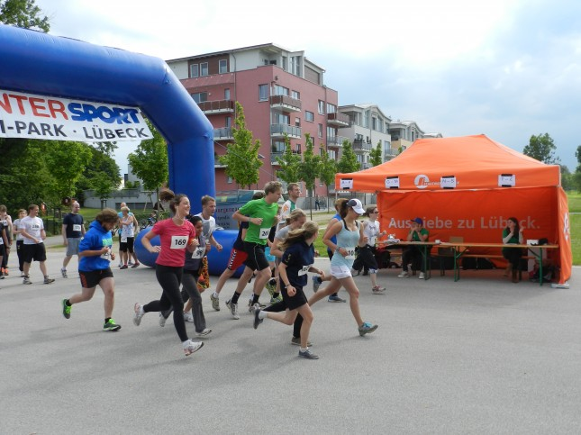 Spendenlauf um den Carlebach-Park.