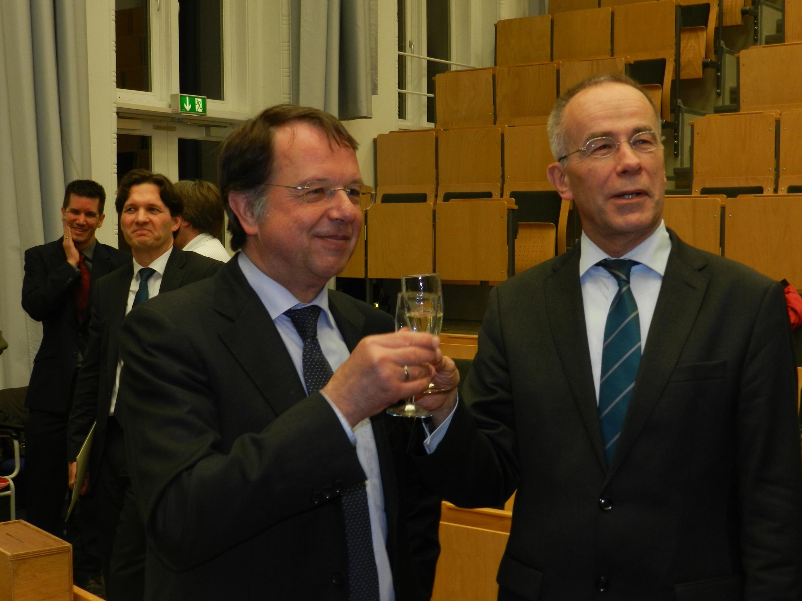 Der ehemalige und der neue Präsident der Uni