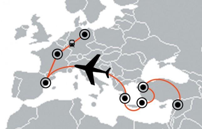 Abduls Weg von Homs nach Deutschland führte ihn quer durch Europa.