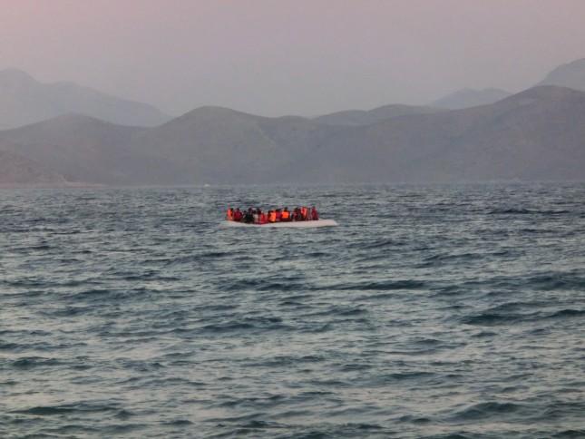 Flüchtlinge vor Griechenland