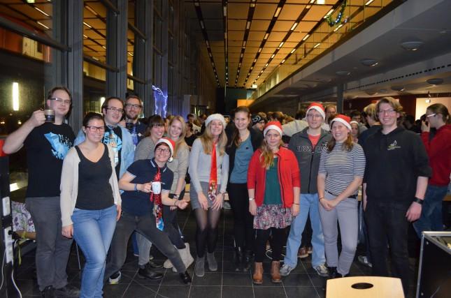 Die aktuellen Vertreter der Fachscha MINT im Dezember beim Nikolausumtrunk.