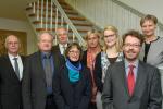 Von links nach rechts: Günter Fuhr, Karl-Friedrich Klotz, Uwe Lüders, Angelika von Keiser-Gerhus, Annette Grü- ters-Kieslich, Ira Martha Faust, Cornelius Borck und Kirsten Fehrs.