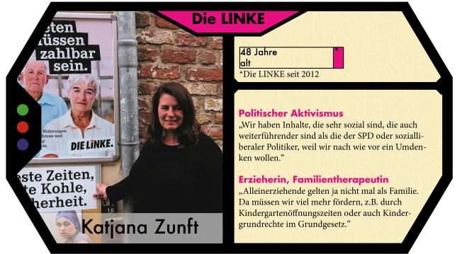 Katjana Zunft kandidiert für die LINKE in Lübeck.