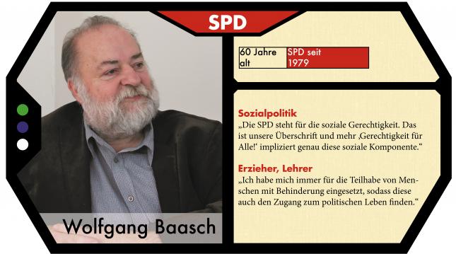 Wolfgang Baasch kandidiert für die SPD im Wahlkreis Lübeck Süd.