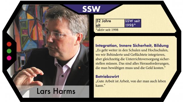 Lars Harms ist der Spitzenkandidat des SSW zur Landtagswahl.