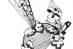 Den Dinosauriern die Welt erklären - Eine Illustration aus dem Archiv der Blue Engineer AG der TUHH.
