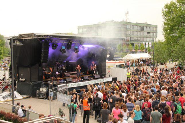 Zur größten Veranstaltung der Studierendenschaft – dem Campus Open Air – kamen viele Besucher.