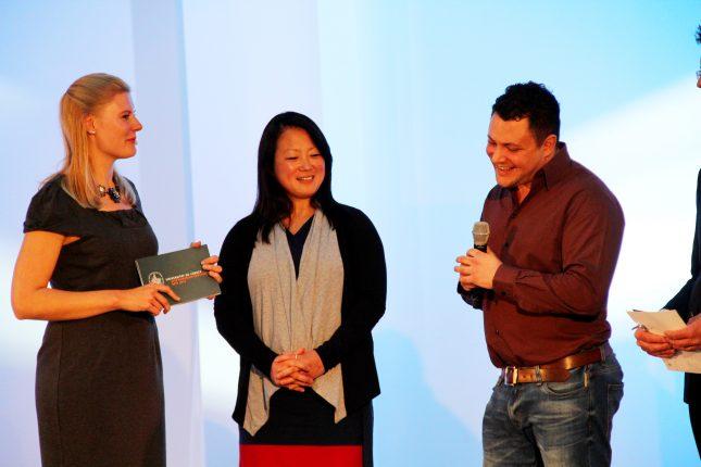 Die Verleihung des Preises für besonderes studentisches Engagement.