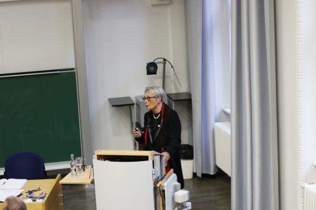 Gabriele Gillessen-Kaesbach bei der Vorstellung im Senat.