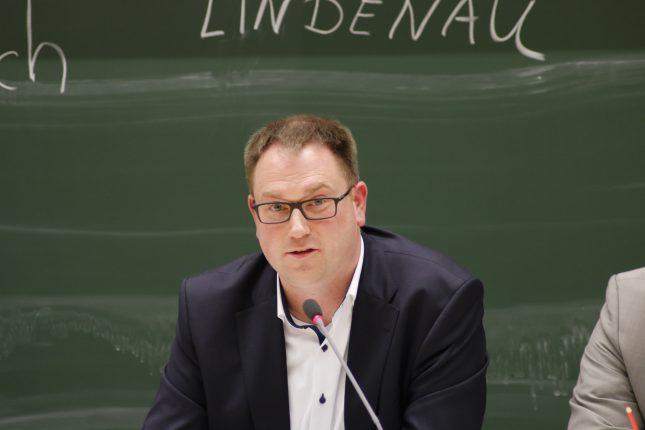 Lindenau als Kandidat im Audimax
