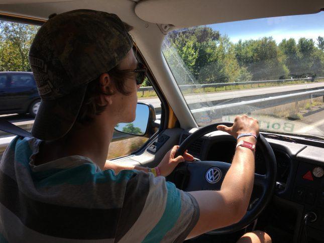 Immer am Fahren